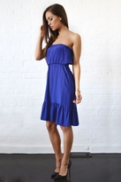 Twelfth St. By Cynthia Vincent by Cynthia Vincent Strapless Ruffle Dress in Indigo