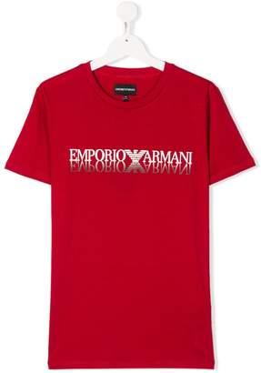 Emporio Armani Kids short sleeve logo T-shirt