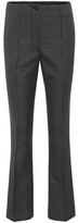 Helmut Lang Flared wool-blend trousers