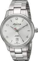 Alpina Men's AL-525S4E6B Alpiner Analog Display Automatic Self Wind Silver Watch