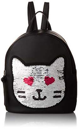T-Shirt & Jeans Sequin Patch Cat Backpack