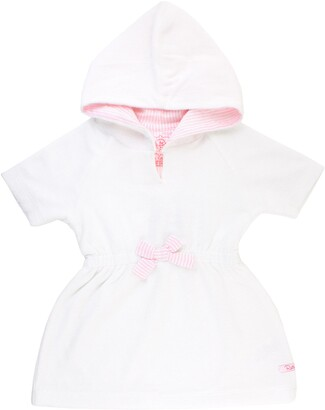 RuffleButts French Terry Hooded Cover-Up Dress