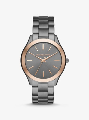 Michael Kors Oversized Slim Runway Two-Tone Watch