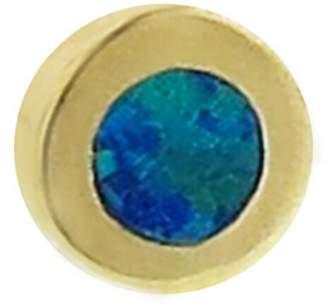Jennifer Meyer Opal Inlay Circle Single Stud Earring - Yellow Gold