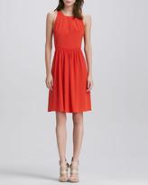 Rebecca Taylor Demi Open-Back Dress
