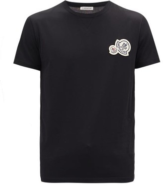 Moncler Double-logo Cotton-jersey T-shirt - Black
