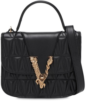 Versace Virtus Quilted Leather Top Handle Bag