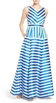 Eliza J Women's Stripe Jacquard Ballgown