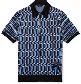 Prada Wool-Jacquard Polo Shirt