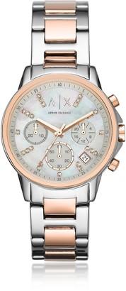 Armani Exchange Lady Banks Two Tone Chronograph Women's Watch