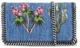 Stella McCartney falabella denim embroidered cross body bag
