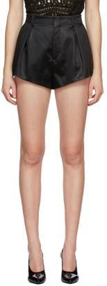 Saint Laurent Black Satin High-Rise Shorts