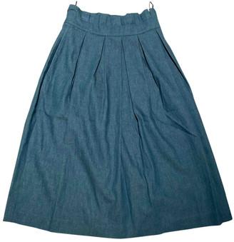 House of Holland Blue Cotton Skirts