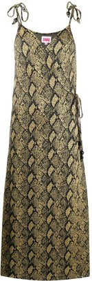 Solid & Striped Snakeskin Print Midi Dress