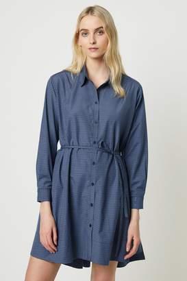 French Connenction Mattia Check Wrap Shirt Dress