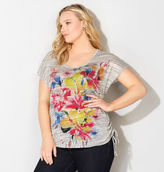 Avenue Spacedye Bouquet Ruched Tee