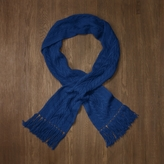 Rugby Long Cable-Knit Scarf
