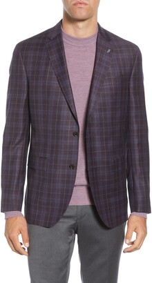 Ted Baker Konan Trim Fit Plaid Wool Sport Coat