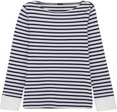 J.Crew Striped Cotton Top - Navy