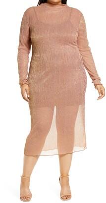Leith Sheer Long Sleeve Dress