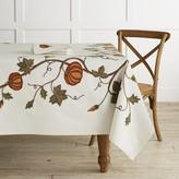 Williams-Sonoma Williams Sonoma Pumpkin Embroidery Tablecloth