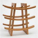 Lipper 13.25 in. x 12.5 in. x 7 in. Bamboo 9 Bottle Wine Rack