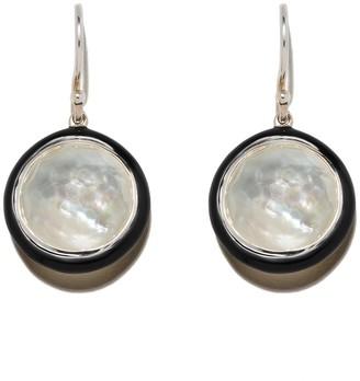 Ippolita Sterling silver and black ceramic Lollipop Carnevale drop earrings