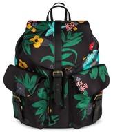 Mossimo Women's Tropical Print Mini Backpack Black