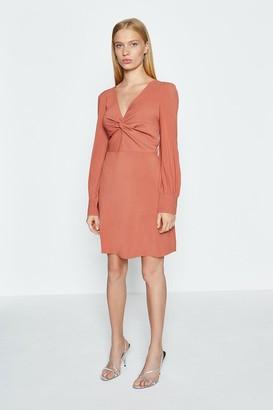 Coast Long Sleeve Twist Front Mini Dress