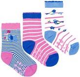 Jo-Jo JoJo Maman Bebe 3 Pack Ele Socks (Baby) - Orchid-6-12 Months