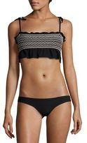 Lisa Marie Fernandez Selena Smocked Crepe Bikini