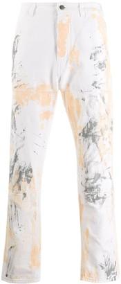 Paura Paint Splatter Straight Jeans