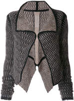 Rick Owens open flared cardigan
