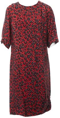 Louis Vuitton Red Viscose Dresses
