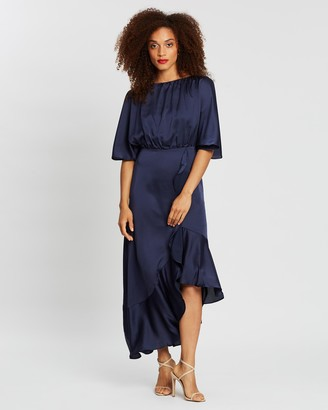 Forcast Corinne Open-Sleeve Dress