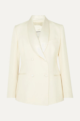 Giuliva Heritage Collection Dorothea Double-breasted Wool Blazer - Ivory