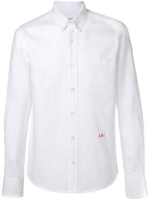 Ami Paris Slim Fit Button-down Shirt Front Embroidery