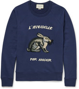 Gucci Embroidered Loopback Cotton-jersey Sweatshirt