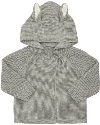 Stella Mccartney Kids Hooded Organic Cotton Tricot Cardigan