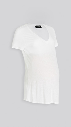 David Lerner Maternity Deep V Tee