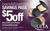 bareMinerals $5 off your future purchase of $30 or more with any foundation purchase