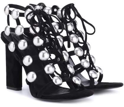 Alexander Wang Embellished suede sandals