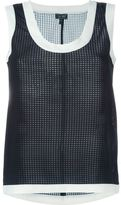 Armani Jeans check effect sleeveless top