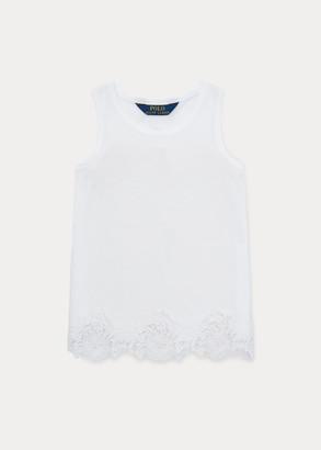 Ralph Lauren Lace Cotton-Modal Tank Top