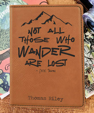 Stamp Out Online Passport Holders rawhide - Brown 'Not all Those Who Wander' Personalized Passport Cover