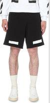 Off-white C/o Virgil Abloh Stripe Print Cottton-jersey Shorts