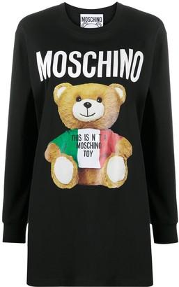 Moschino Teddy Bear print longline sweatshirt