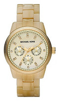 Michael Kors Mother-of-Pearl Dial Watch - Champagne/Gold