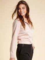 M&Co Long sleeve satin shine shirt