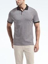 Banana Republic Luxury-Touch Mini Stripe Polo